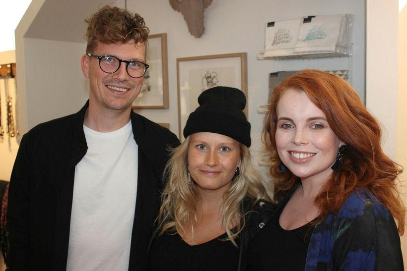 Davíd Young, Sigrún Ásta Jörgensdóttir og Sylvía Rut Sigfúsdóttir.