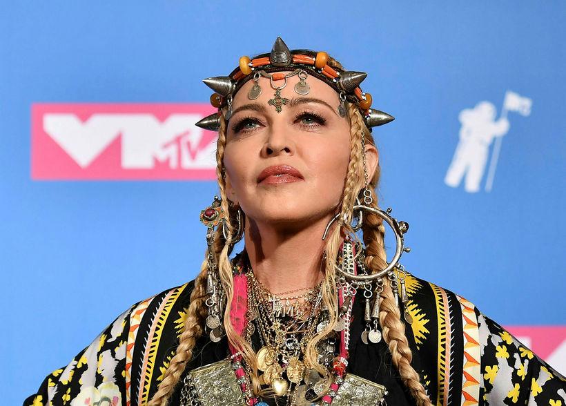 Madonna árið 2018.