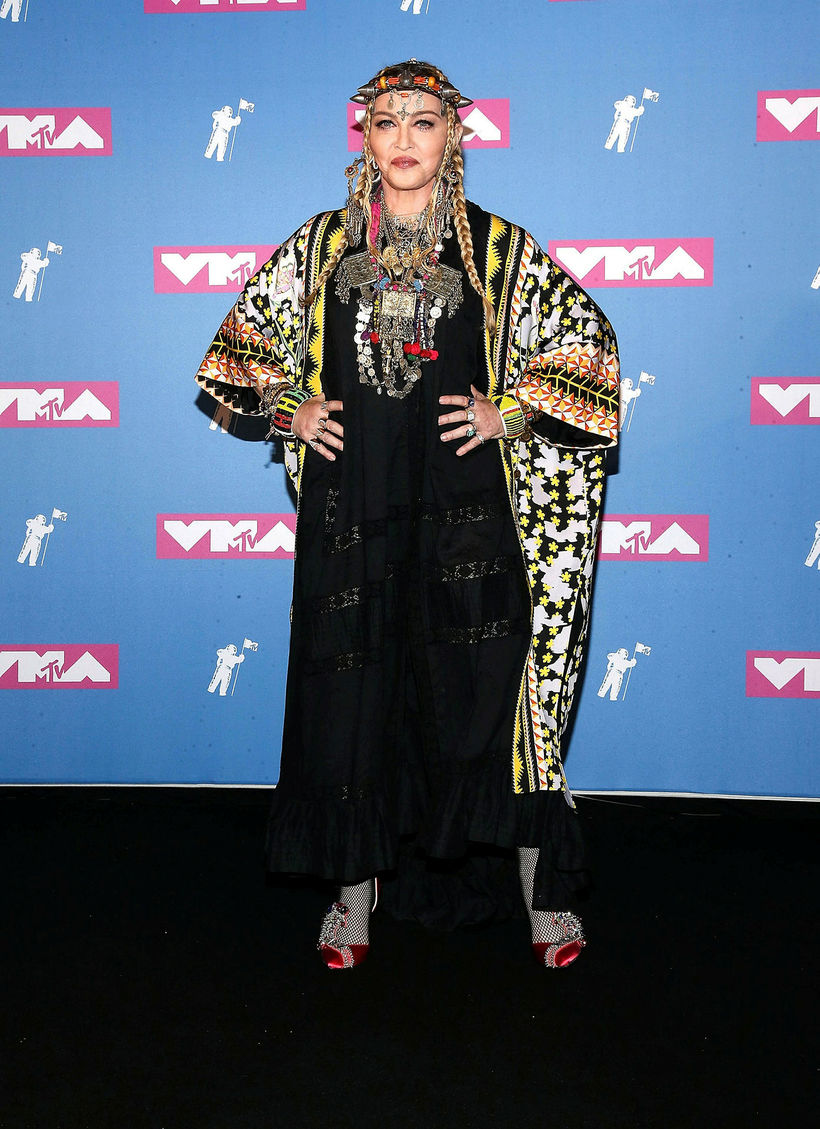 Madonna mætti til hátíðarinnar og heiðraði Arethu Franklin.