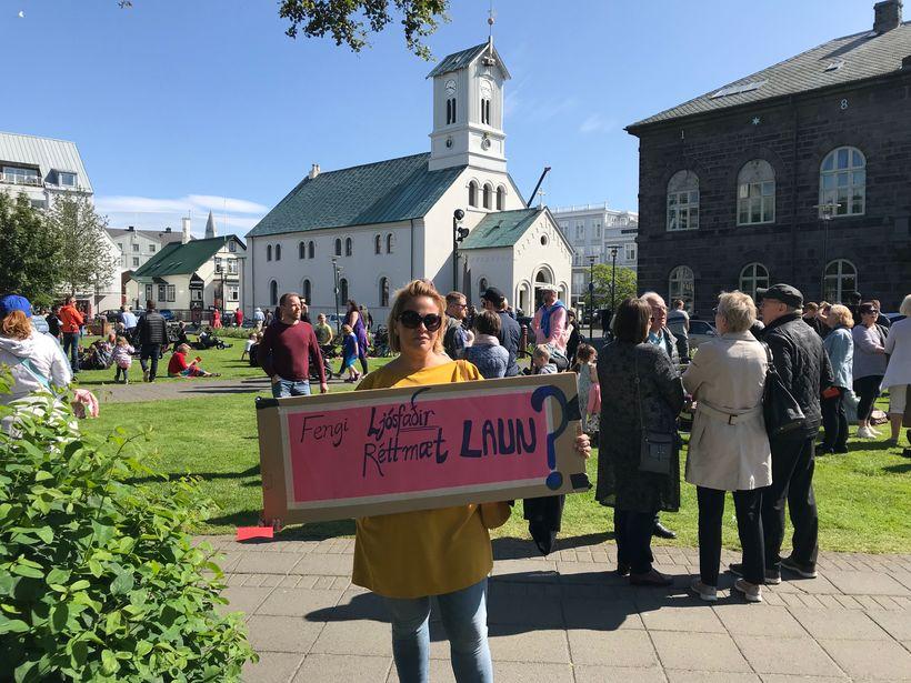 Hildur Sólveig Ragnarsdóttir ljósmóðir sagði nýlega upp störfum á Landspítalanum.