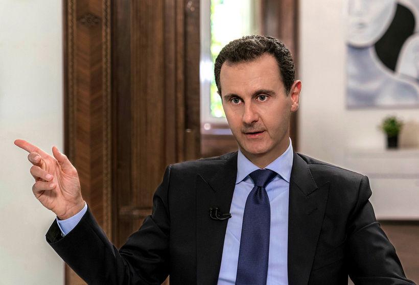 Bashar al-Assad í viðtali við rússneska sjónvarpsstöð.