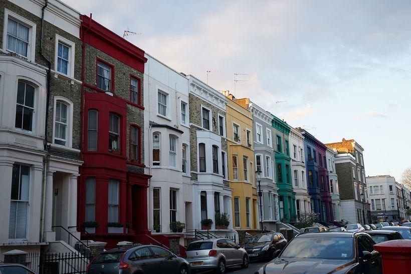 Frá hverfinu Notting Hill í London.