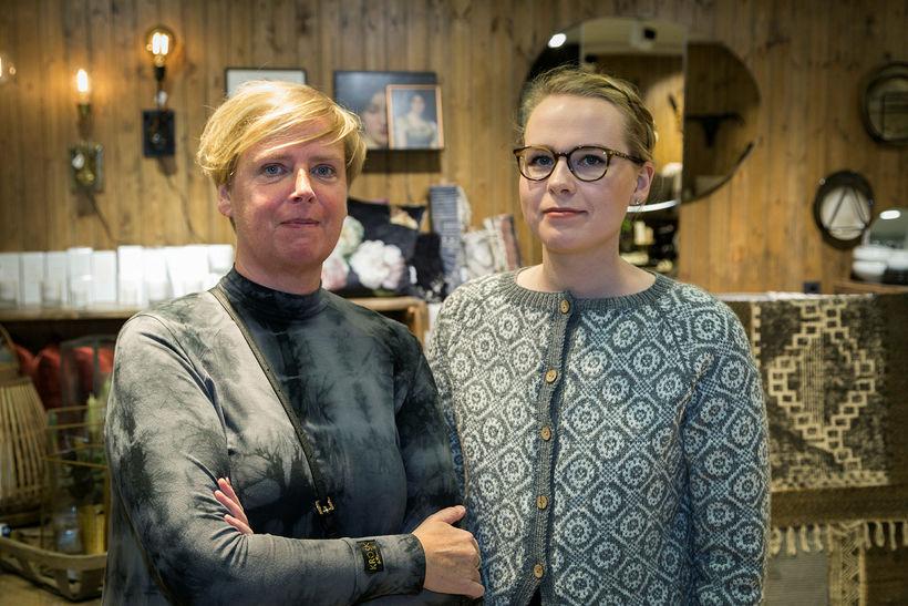Guðrún Edda og Þórunn Sara.