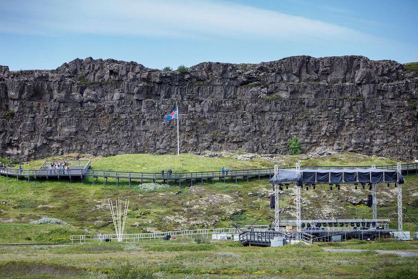 Hundrað ára fullveldi Íslands verður fagnað á Þingvöllum í dag.