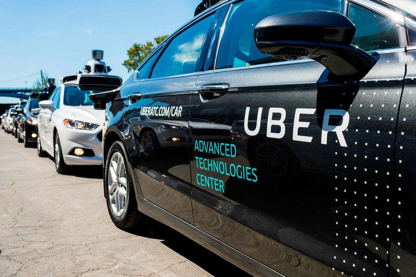 Frumgerð af sjálfkeyrandi bifreið bandaríska fyrirtækisins Uber.