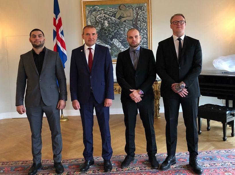Trausti Már Falkward, Guðni Th. Jóhannesson forseti Íslands, Jón Pétur ...