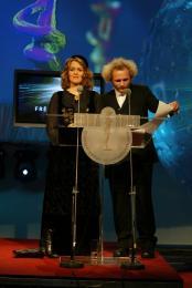 Eva María Jónsdóttir og Sverrir Þór Sverrisson (Sveppi) voru kynnar …