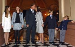 Arnold Schwarzenegger, Maria Shriver, kona hans og börn þeirra fjögurk, ...