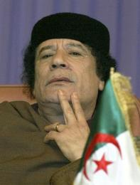 Moammar Gaddafi, leiðtogi Líbýu.