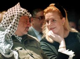 Yasser og Suha Arafat eiginkona hans.