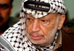 Yasser Arafat, forseti heimastjórnar Palestínu.