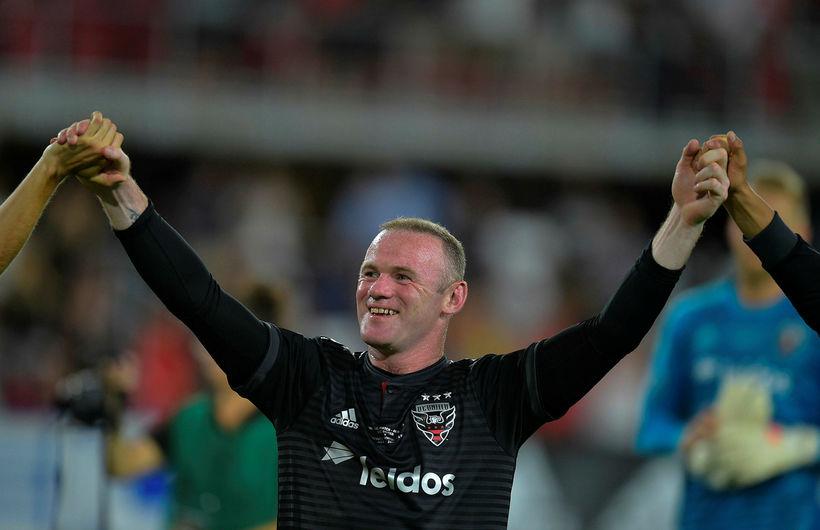 Wayne Rooney fagnar með DC United.