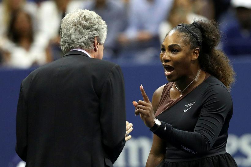 Serena Williams lætur í sér heyra.