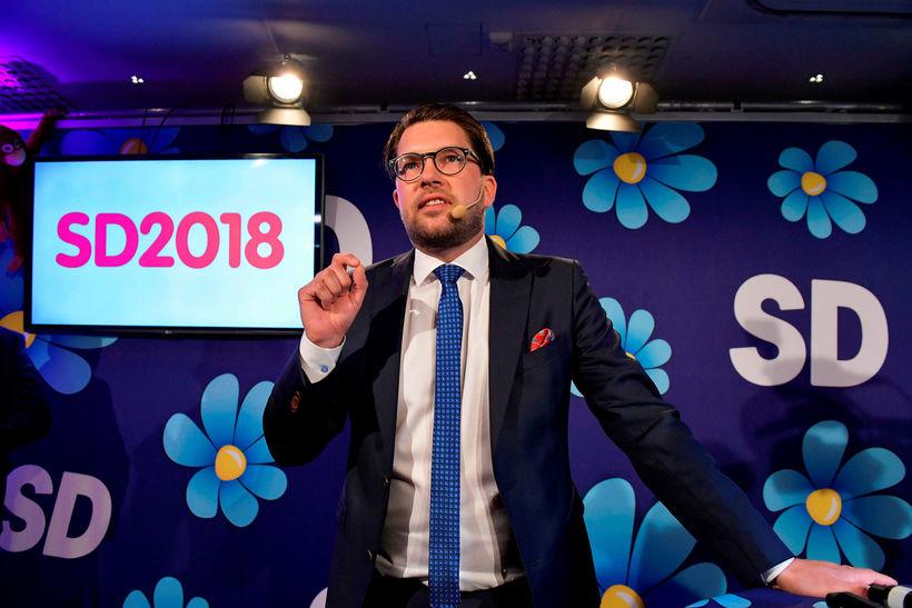 Jimmie Åkesson formaður Svíþjóðardemókrata er sigurvegari kosninganna að mati Dr. ...