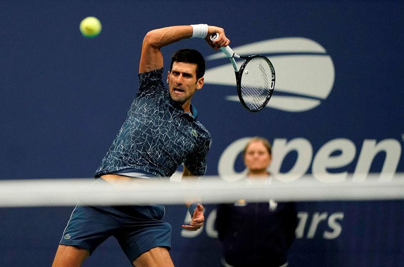 Novak Djokovic í úrslitaleiknum.