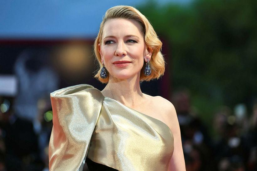 Leikkonan Cate Blanchett mætti á frumsýningu Suspiria á kvikmyndahátíðinni í ...
