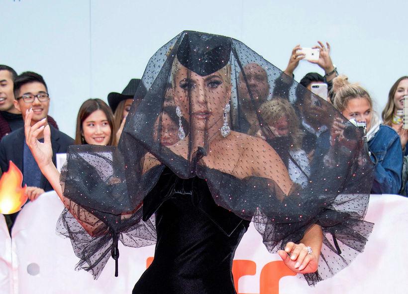 Lady Gaga á Toronto kvikmyndahátíðinni.