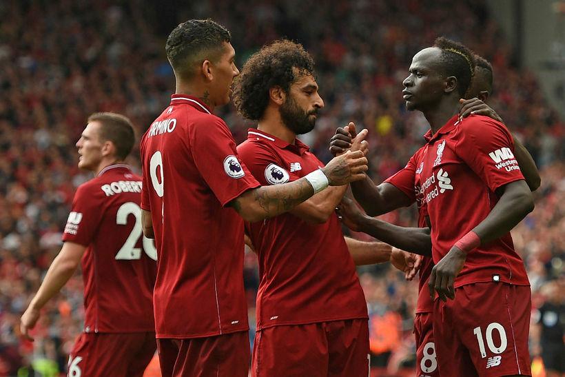 Mohamed Salah, Sadio Mané og félagar í Liverpool eru með ...