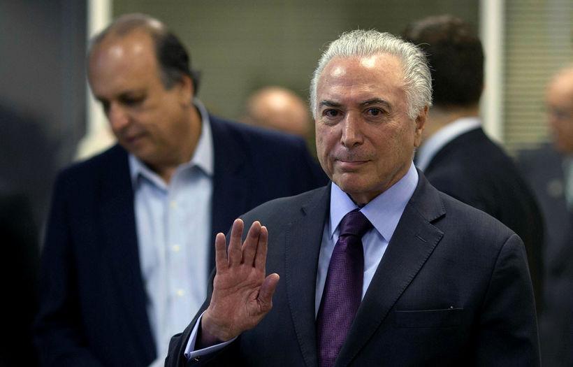 Michel Temer, forseti Brasilíu.