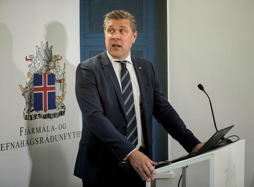 Bjarni Benediktsson fjármálaráðherra kynnir fjárlagafrumvarpið í morgun.
