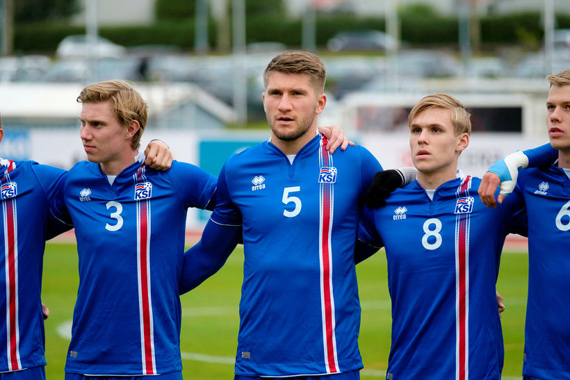 Felix Örn Friðriksson, Axel Óskar Andrésson og Arnór Sigurðsson eru ...