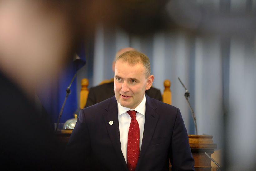 Guðni Th. Jóhannesson, forseti Íslands, flytur ræðu við þingsetningu.