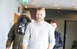 Sindri Þór Stefánsson at court.
