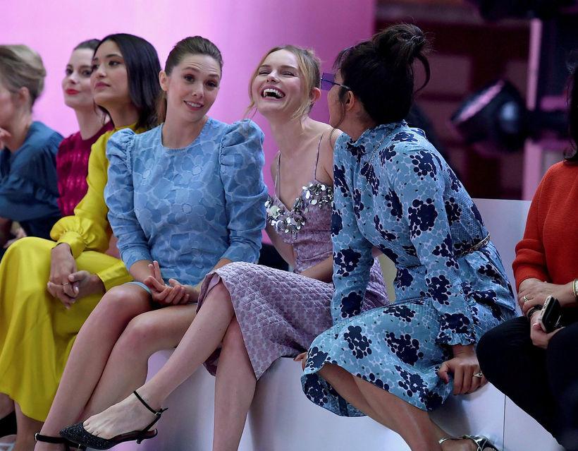 Leikkonurnar Elizabeth Olsen, Kate Bosworth og Priyanka Chopra skemmtu sér ...