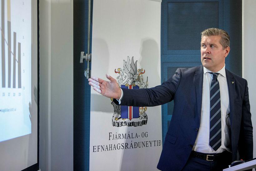Bjarni Benediktsson fjármálaráðherra kynnir fjárlagafrumvarpið fyrir árið 2019.