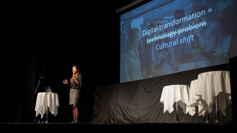 Nana Bule, framkvæmdastjóri hjá Microsoft í Danmörku var aðalfyrirlesari.