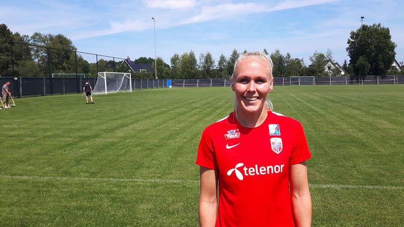 María Þórisdóttir á EM 2017 með norska landsliðinu.