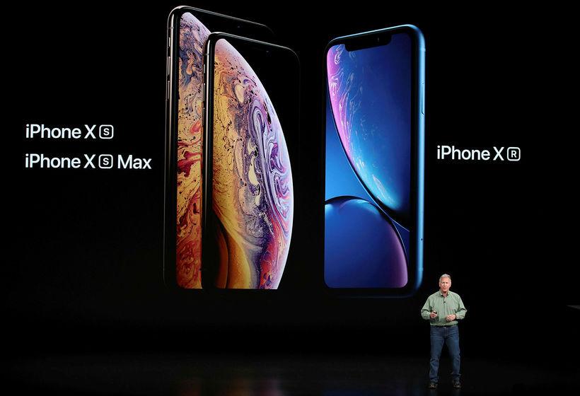 Phil Schiller, starfsmaður Apple, á kynningunni.