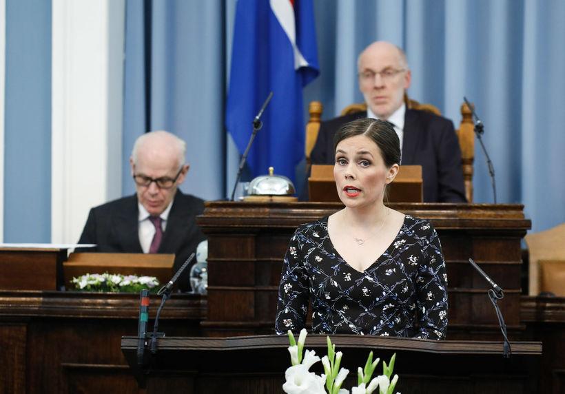 Katrín Jakobsdóttir forsætisráðherra flutti stefnuræðu sína á Alþingi í kvöld.