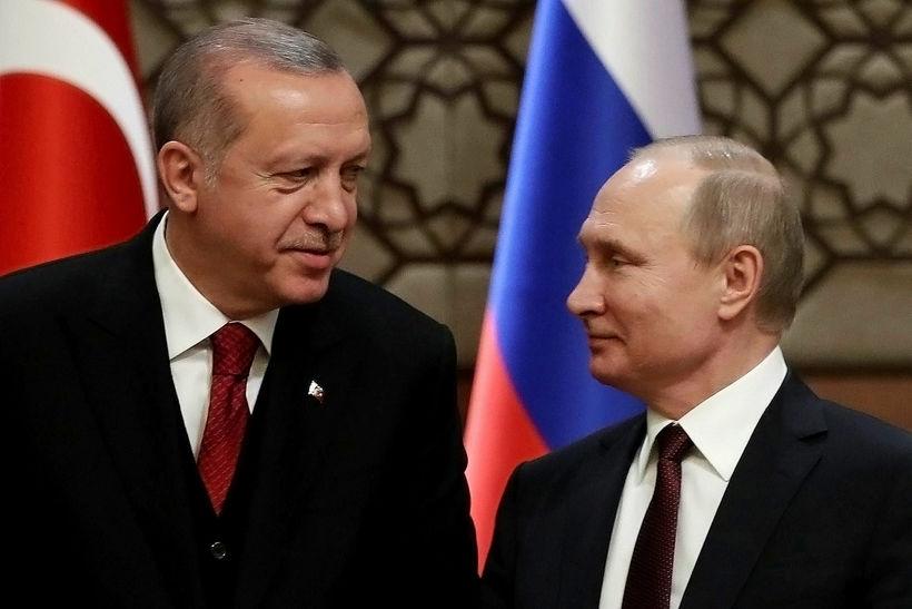 Recep Tayyip Erdogan og Vladimír Pútín.