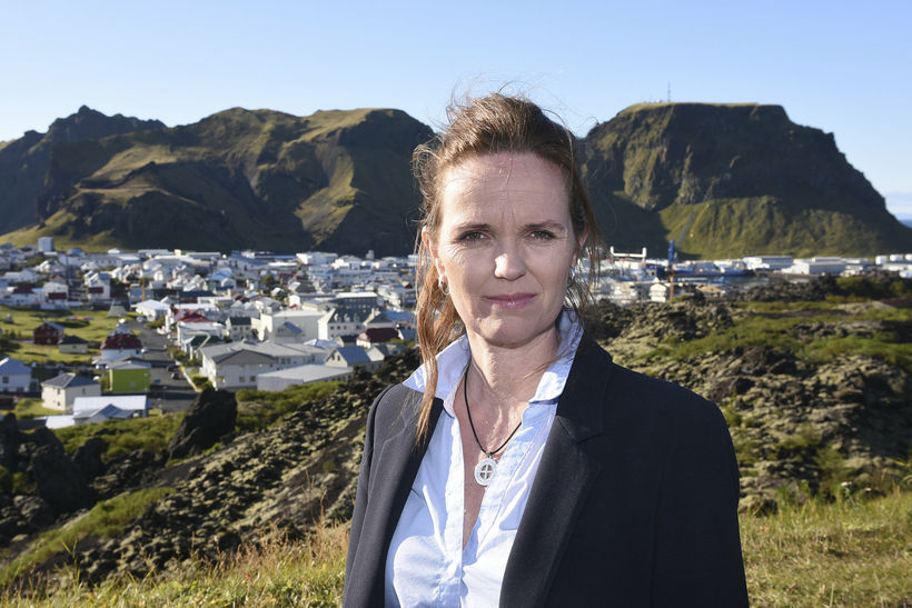 Íris Róbertsdóttir segir veiðigjöldin sem hverfi frá Vestmannaeyjum íþyngjandi.