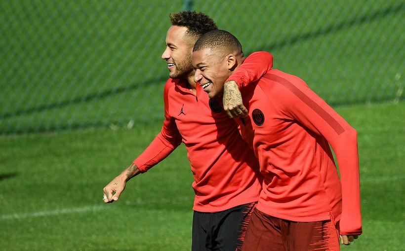 Neymar og Kylian Mbappe, tvær af skærustu stjörnum Paris SG.