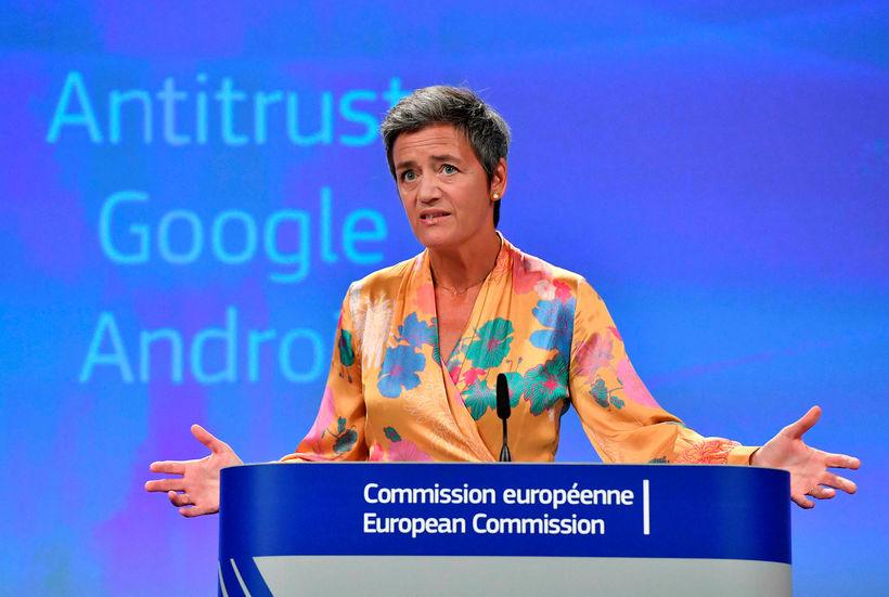 Margrethe Vestager er samkeppnisstjóri Evrópusambandsins.