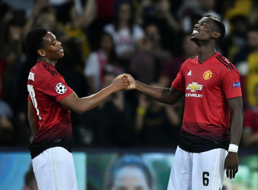 Anthony Martial og Paul Pogba sáu um markaskorun Manchester United ...