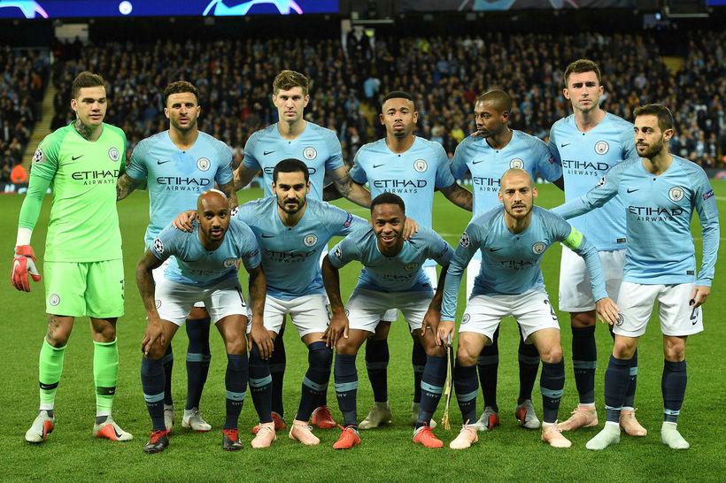 Manchester City tapaði 2:1 fyrir Lyon í Meistaradeildinni í kvöld.