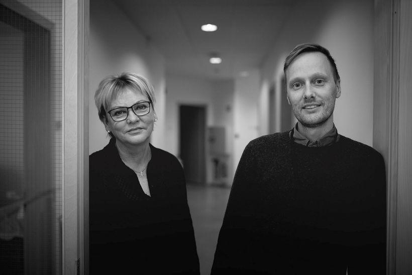 Sigríður Hrönn Bjarnadóttir teymisstjóri og Erik Brynjar Schwitz Eriksson, geðlæknir …