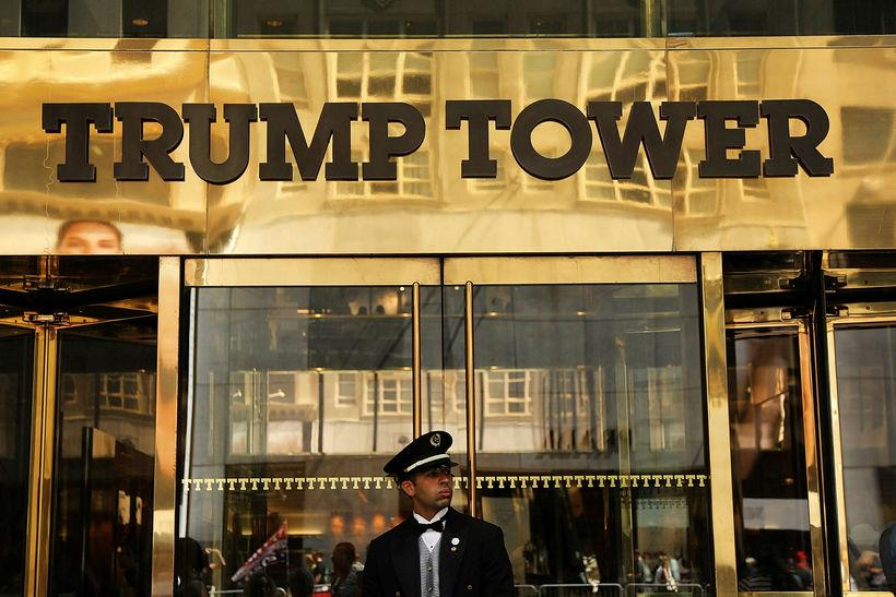 Trump-turninn í New York. Goldstone segir að þegar hann horfi ...