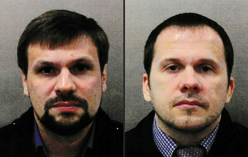 Alexander Petrow og Ruslan Boshirov ferðuðust frá Moskvu til Gatwick-flugvallar ...