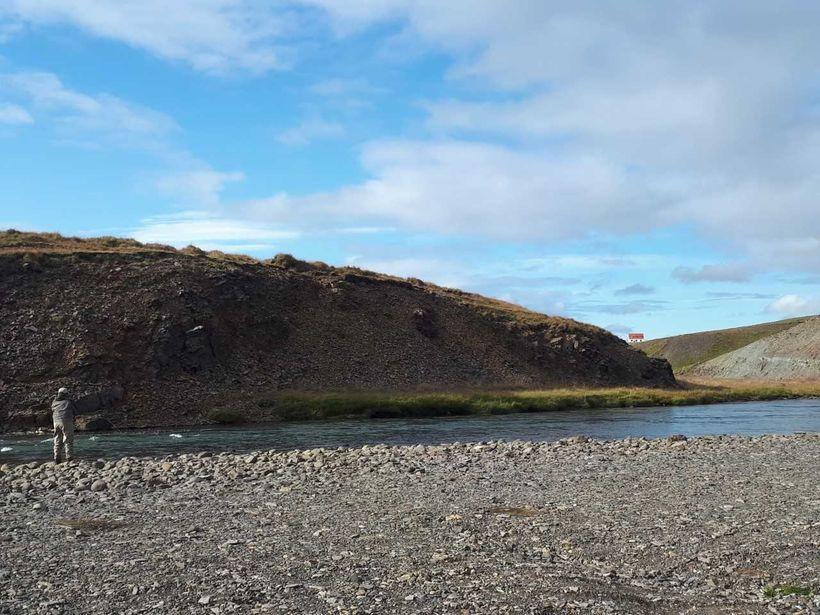 Frá Tangarstreng í Austurá í Miðfriði.