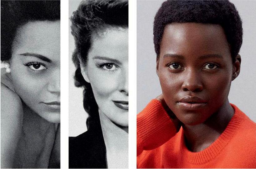Eartha Kitt, Katharine Hepburn og Lupita Nyong'o.