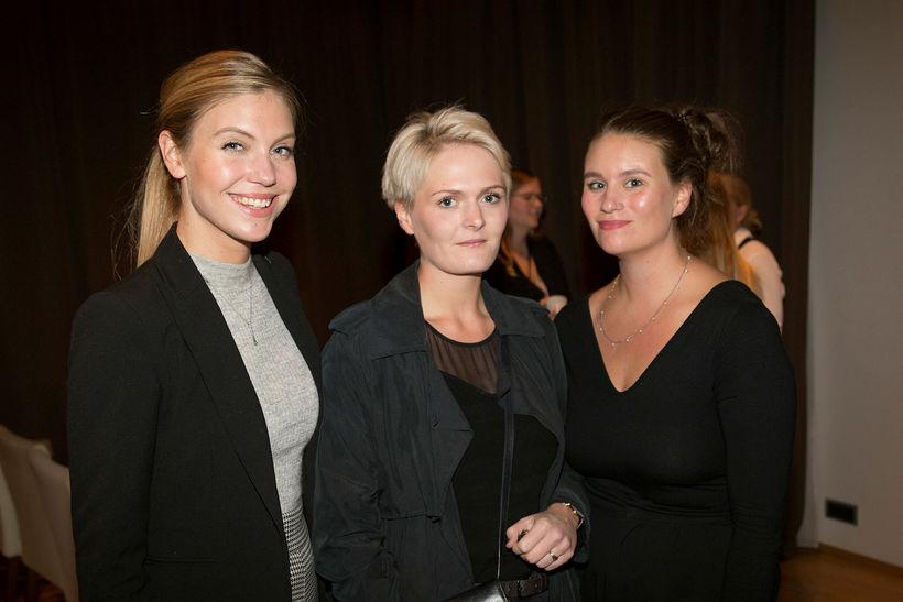 Ásdís Eva Ólafsdóttir, Gígja Haraldsdóttir og Auður Albertsdóttir.