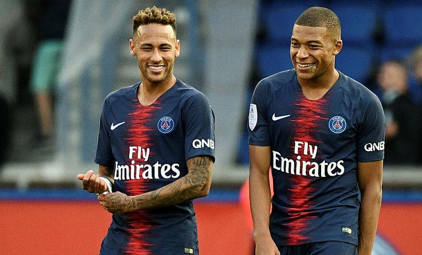 Neymar og Kylian Mbappe.