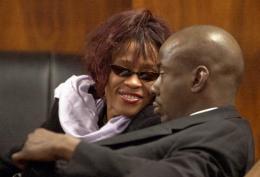 Bobby Brown og Whitney Houston árið 2002.