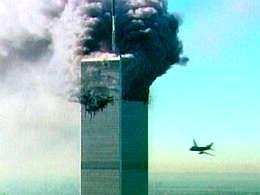 Farþegaflugvélum flogið á World Trade Center í New York 11. ...