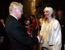 Ólafur Ragnar Grímsson var viðstaddur frumsýningu á Don Kíkóta í ...