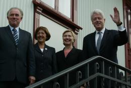 Halldór Ásgrímsson og Sigurjóna Sigurðardóttir ásamt Bill og Hillary Clinton …